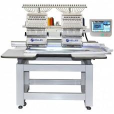 VE 1502CAP-SE Промышленная 2-головочная 15-ти цветная вышивальная машина для рукавной вышивки с облегчённым корпусом.